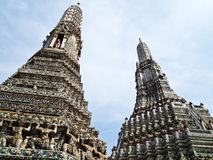 Double of Pagoda at Wat Arun , Bangkok Stock Photos