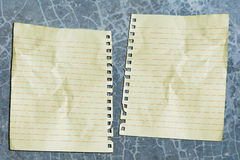 Double paper Royalty Free Stock Images
