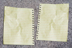 Double paper Royalty Free Stock Photo