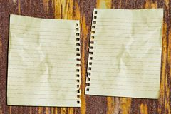 Double paper Royalty Free Stock Photos
