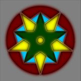 Double Pentagrams Royalty Free Stock Photography