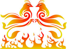 Double pheonix vector logo Stock Photography