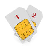 Double phone SIM cards Royalty Free Stock Photography