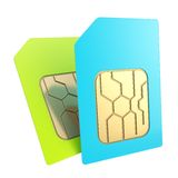 Double phone SIM cards Royalty Free Stock Photos