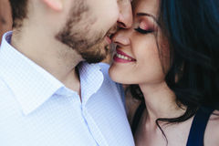 Double photo beautiful young couple Royalty Free Stock Photos