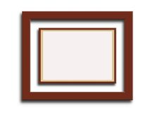 Double picture frame Royalty Free Stock Photo