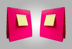 Double pink calender Royalty Free Stock Images