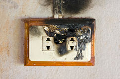 Double Plug Socket. Royalty Free Stock Images