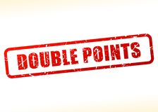 Double points text buffered Royalty Free Stock Photos