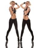 Double pose photo libre de droits