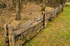 Double Post-split Rail Fence stock image