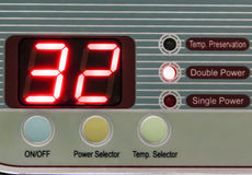 Double power electric Control Panel Royalty Free Stock Photos