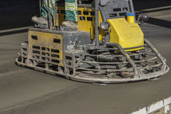 Double power trowel finishing concrete floor Royalty Free Stock Photography