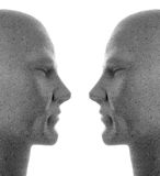 Double profile facing each other royalty free stock images