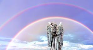 Double promesse du ` s de Dieu d'arcs-en-ciel de l'amour, du soin, de l'appui, et du protec Image libre de droits