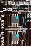 Double puce BIOS Photographie stock libre de droits