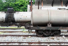 Double réservoir de stockage de pétrole Photo libre de droits