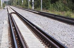 Double railway - RAW format  Stock Photo
