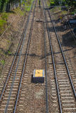 Double railway track Royalty Free Stock Images