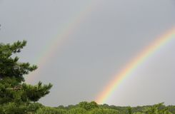 Double Rainbow. A surprise double rainbow on Long Island, New York Royalty Free Stock Images