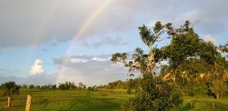Double rainbow stock photos