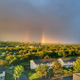 Double rainbow arch