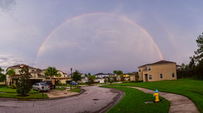 Double rainbow. In Florida, taken in Tampa Stock Image