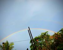 The double rainbow. royalty free stock photo