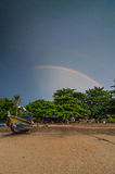 Double rainbow at langkawi. The beautifull double rainbow at langkawi royalty free stock photos