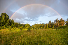 Double rainbow, magic weather Stock Images