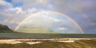 Double rainbow in Mauritius Royalty Free Stock Photography