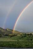 Double rainbow over Gallatin River Royalty Free Stock Photos