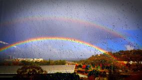 Double Rainbow royalty free stock images