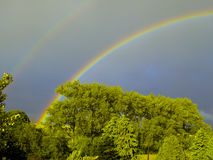 Double rainbow over Lockerbie Royalty Free Stock Images
