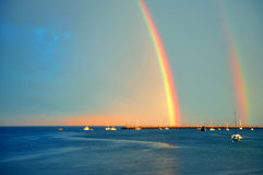 Double Rainbow Stock Images