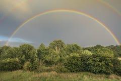 Double Rainbow Stock Image