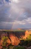 Double rainbow at sunset, Grand Canyon National Park. Royalty Free Stock Photography