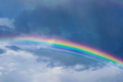 Double Rainbow. Triple rainbow against the sky Stock Photos