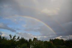 Double rainbow Stock Images