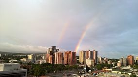 Double rainbows Royalty Free Stock Photos