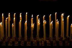 Double raw candles, dark. fullframe Stock Images