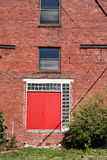Double Red Doors Royalty Free Stock Images