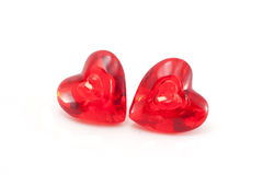 Double red hearth candles Stock Photography