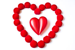 Double red hearts Royalty Free Stock Photos