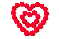 Double red hearts Stock Photos