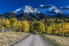 Double RL Ranch near Ridgway, Colorado USA with the Sneffels Range in the San Juan Mountains Stock Photos