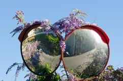Double road mirror Stock Image