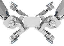 Double Robot Grip Royalty Free Stock Photo