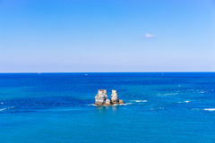 Double-rock on the sea, Taipei, Taiwan Royalty Free Stock Images