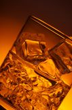 Double on the Rocks. With orange back lighting that trails off to brown tones Stock Photography